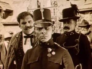 Erich von Stroheim & attitude - Blind Husbands (1919) arrival